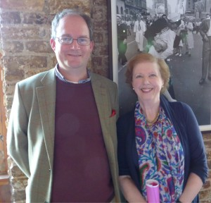 Myself with my cousin Lady Selina Hastings, at a talk she gave to The Biographer's Club in November 2014.