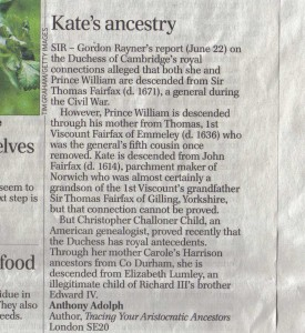 My letter to the editor of the Telegraph, 25 June 2013.