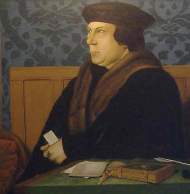 Thomas Cromwell, Earl of Essex, my ancestor, who introduced parish registers to England in 1538.