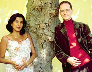 Filming the Bristol roadshow section of Extraordinary Ancestors with  Shilpa Mehta, October 2000