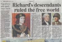 Sunday Express article about Tracing Your Aristocratic Ancestors