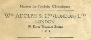 William Adolph envelope detail
