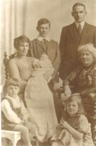 Angela Havers, descendant of George, Duke of Clarence, the brother of Richard III, with her mother, husband and children.