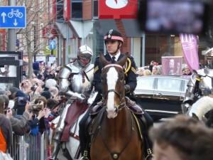 The funeral procession of Richard III in Leicester on 22 March 2015