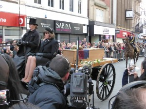 Richard III's coffin, on its journey to Leicester Cathedral