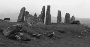The Cairnholy I Neolithic chambered cairn, Galloway, the burial place of an ancient ancestor of ours about 4,000 years ago (photographed in February 2015).