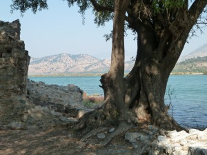 View across the Vrina Channel from Butrint