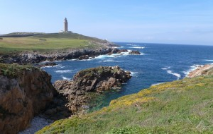 The Tower of Hercules on the northern headland of A Coruna, a potent reminder of the area's rich mythology